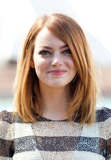 15 Enkle hårklipp for runde ansikter