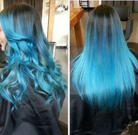 20 Blå ombre frisyrer for kvinner