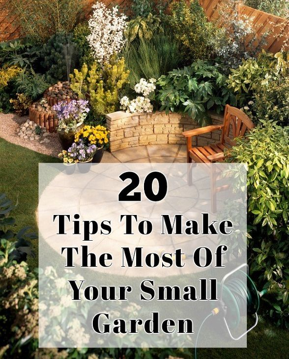 20 Tips for å gjøre mest mulig ut av liten hage