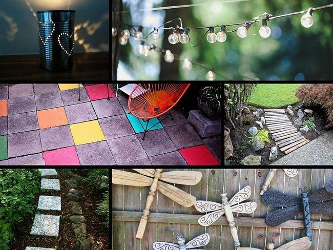 32 Genius ideer for å forskjønne hagen din på et budsjett