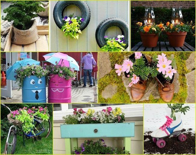 40 Oppfinnsomme DIY hage planters som vil forandre hagen din
