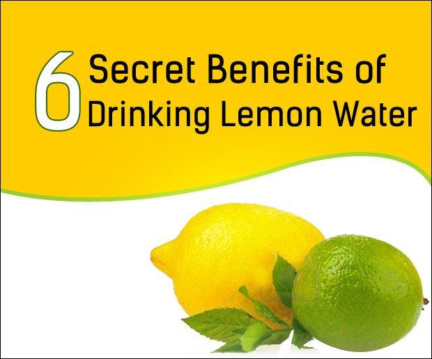 6 Secret Fordelene ved å drikke sitron vann
