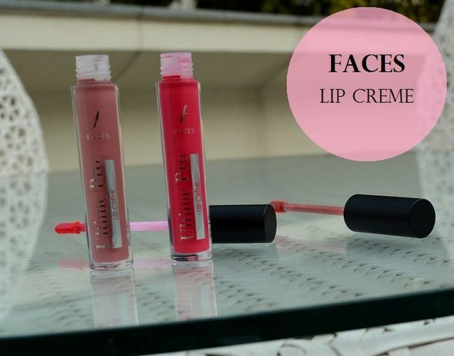 Faces ultime pro leppe creme vurdering, fargeprøver: fuchsia sparkler, nude mojito