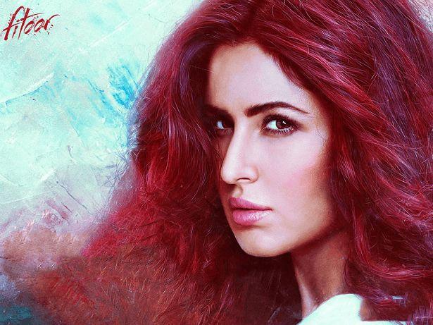 Katrina kaif fitoor filmen titt dekodet: antrekk, sminke, rødt hår