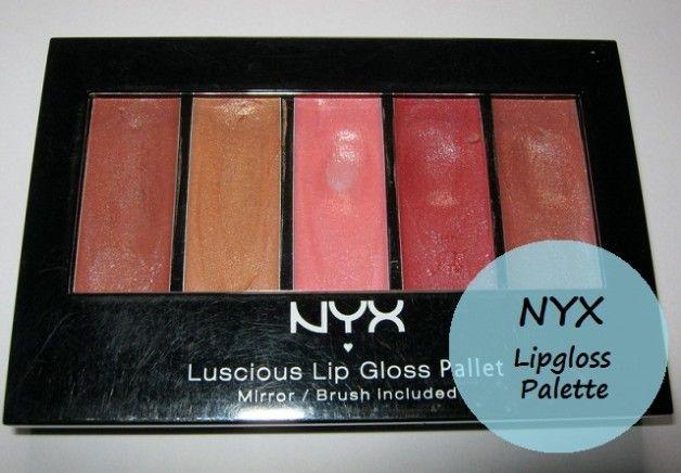 Nyx saftig lipgloss paletten -De Naturals fargeprøver og gjennomgang