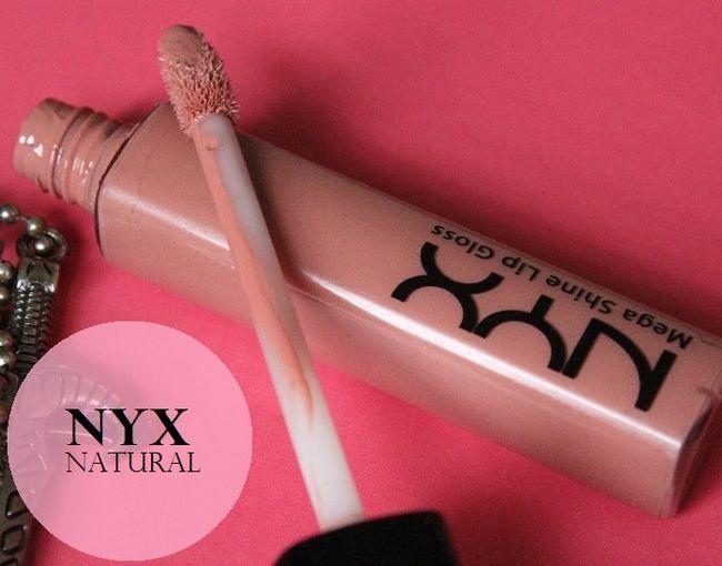 Nyx mega shine lipgloss gjennomgang, fargeprøver: naturlig