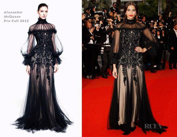 Sonam kapoor Cannes 2012: alexander mcqueen kjole, sminke sammenbrudd