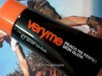 Oriflame veldig meg fersken meg huden glød farget fuktighetskrem gjennomgang, fargeprøver