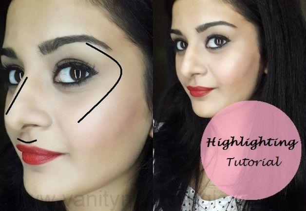Tutorial: hvordan å markere ansiktet (trinn + makeup produkter som brukes)